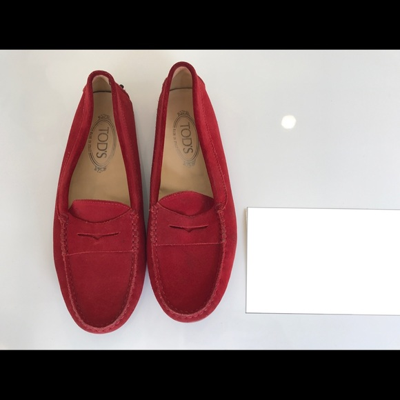 7d6febe1d0580 Tod's Gommino Red Suede Loafers. M_59f116f0f739bcd86800a191