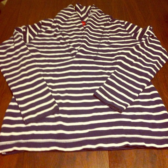 Merona Sweaters - Navy and white striped top