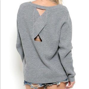 Sweaters - Open-Back Sweater