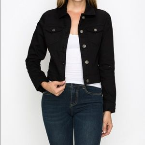 Jackets & Blazers - Black Denim Jacket