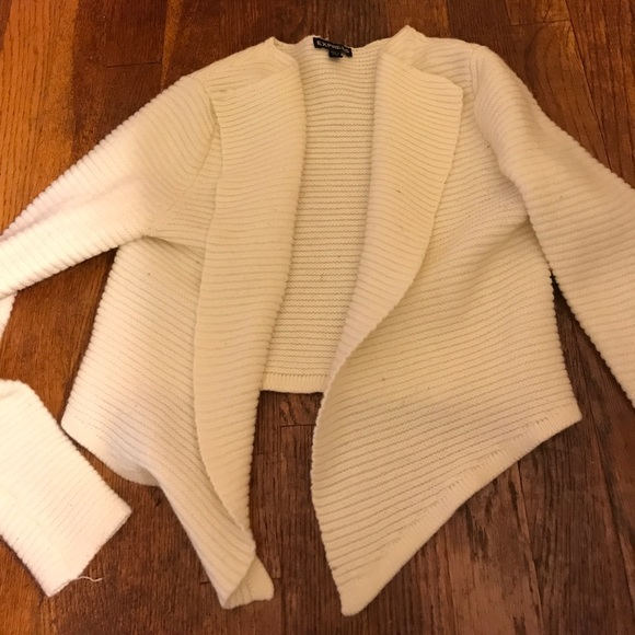 87% off Express Sweaters - Express cream/ off white cropped ...