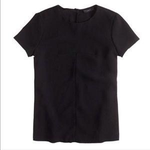 J. Crew Matte Crepe T Shirt, Black