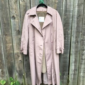 London Fog all weather fur lined trench coat