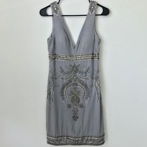 Sue Wong Silk Embellished Cocktail Dress