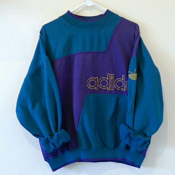 adidas Other , Vintage Rare Retro Adidas Colorblock Sweatshirt