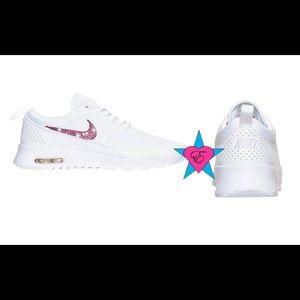 b22ec3e28403 AB Sparkle Nike Air Max Thea White Sneakers