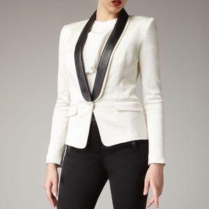 Tibi Leather Tuxedo Jacket