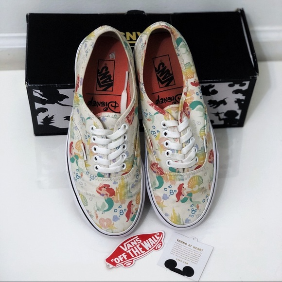 Vans Shoes Limited Edition Disney X Authentic Ariel