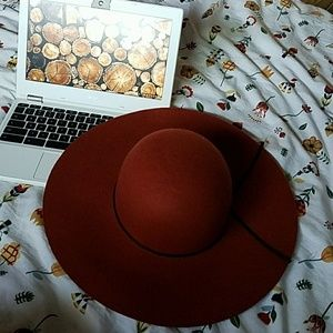Fall orange wool hat