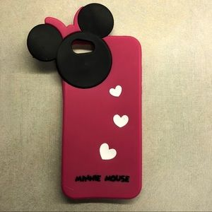 Accessories - Minnie Mouse Pink & Black iPhone 5S Case
