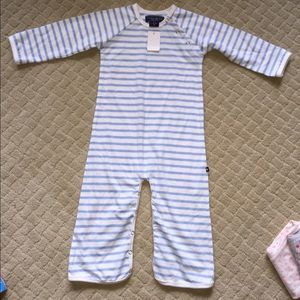 Toobydoo boys romper 18-24 months new blue white