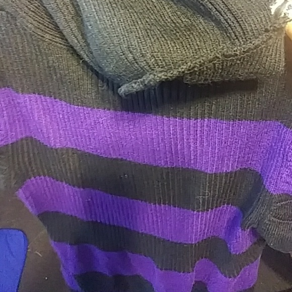 Takeout Dresses & Skirts - Black and purple sweater dress