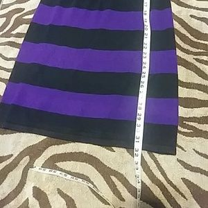 Takeout Dresses - Black and purple sweater dress
