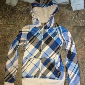 Zumiez size M plaid zip up jacket