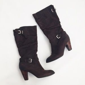 Guess Magy Knee High Leather Slouch Boots