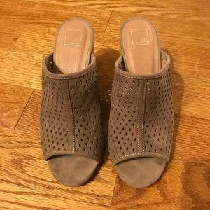 PRICE CUT🌟 Brown heeled slip ons!!!  Oh so comfy