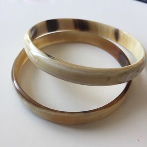 Set of Two Natural Horn Bracelet