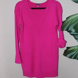 Vince Camuto Hot Pink Ribbed Sweater