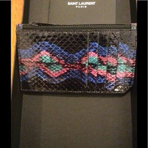 YSL NWT card holder