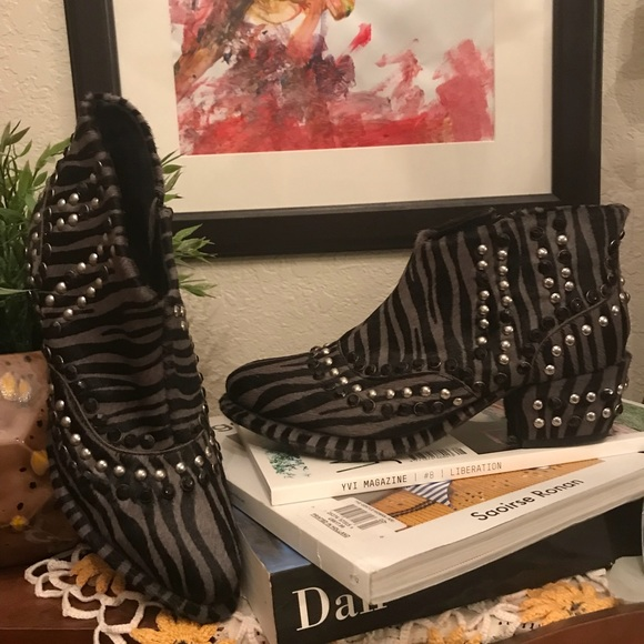 FP • chasing cowboys studded ankle boots