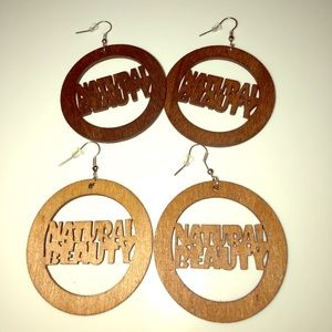 Jewelry - NATURAL BEAUTY WOODEN EARRINGS!🔥