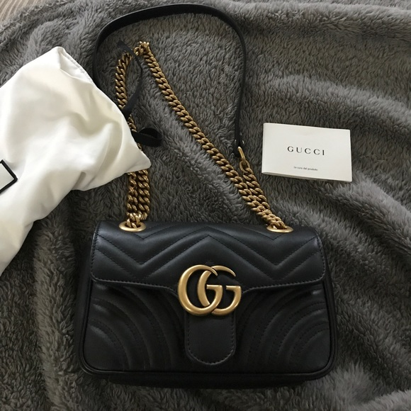e97093b7bdb Gucci Handbags - 💯 Authentic Gucci Marmont Matalasse Mini 🖤