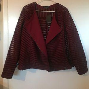 NWT burgundy jacket