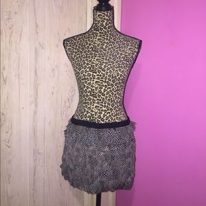 Plume Feather Mini Skirt
