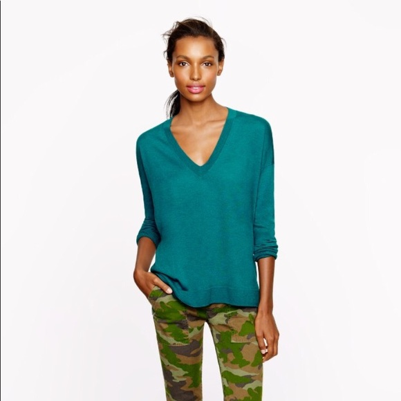 69% off J. Crew Sweaters - J. Crew Merino V-Neck Boyfriend Sweater ...
