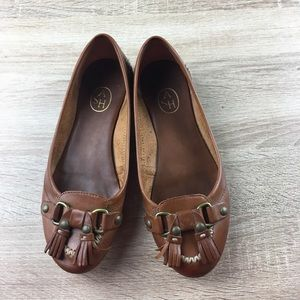 Ash Tassels Leather Flats