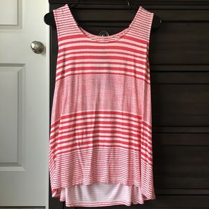 Skies are Blue striped tank with back detail