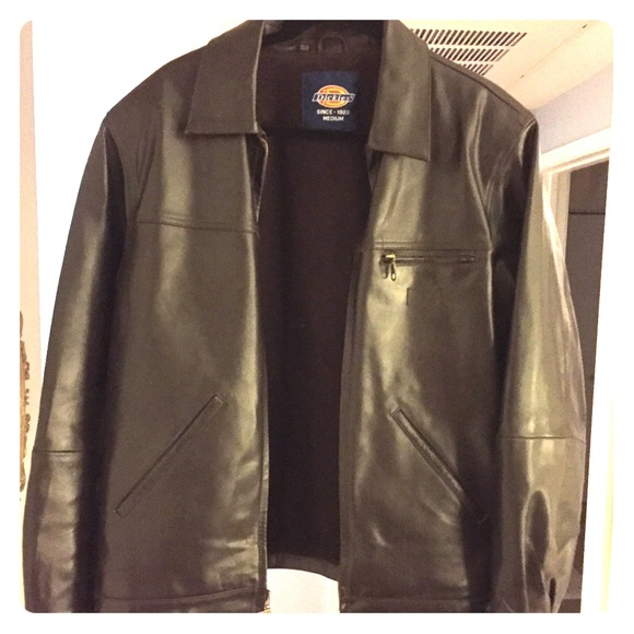 ba4d2b3a5 Rare Dickies vintage leather bomber jacket men's M