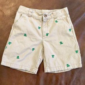 Gymboree Critter Shorts 6 Frogs Khaki Boys Girls