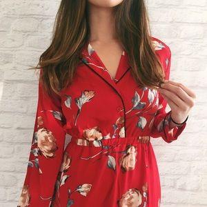 Floral Pajama Maxi Dress