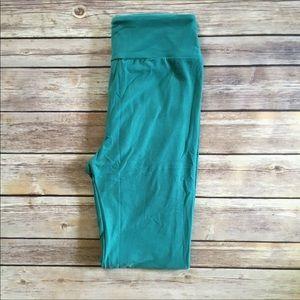 Lularoe TC Aqua / Teal blue Green Leggings NWOT