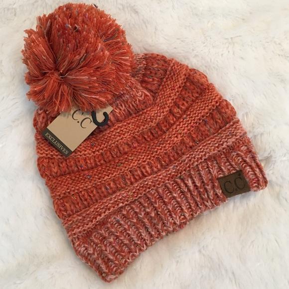 ❗️LAST 1❗ Cable Knit Confetti Pom Pom Beanie b8501b04e76c