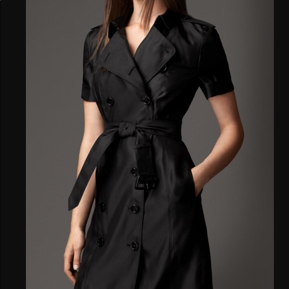 c6755bb1806 Burberry Silk Belted Montana Trench Dress
