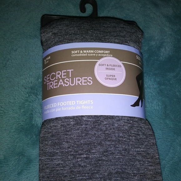 63e62a576531e secret treasures Accessories | Fleeced Footed Tights | Poshmark