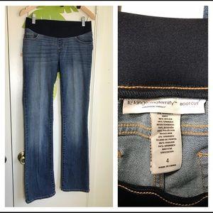 Liz Lange Maternity Boot Cut Jeans Indigo Sz 4