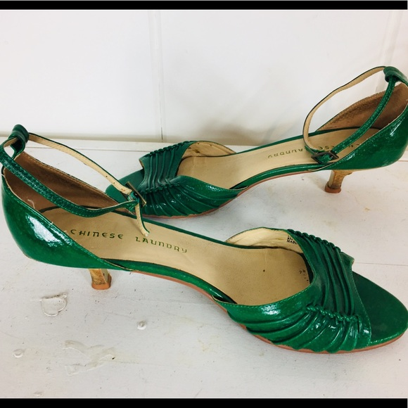 Green Kitten Heel Sandals W95 | Poshmark
