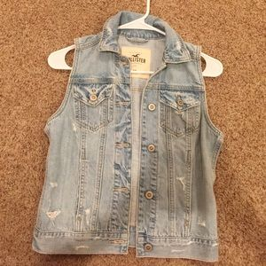 Hollister Distressed Light Wash Jean Jacket