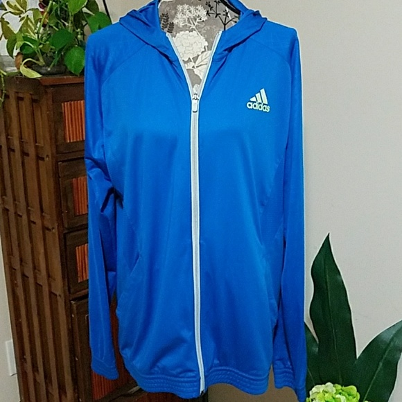 separation shoes 7654d a6c2e Mens L Adidas Climacool zip up track jacket hoodie