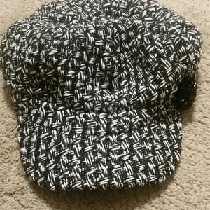 Accessories - Black and white hat.has black accent on side