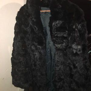 Jackets & Blazers - Rabbit fur coat mid length