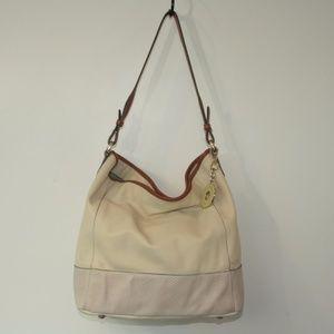 Isaac Mizrahi Leather Bucket Bag Tote