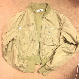 Jackets & Blazers - Olive green cropped bomber Jacket