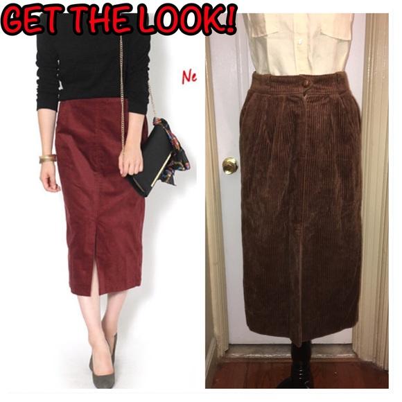 edf870759 Anne Klein Skirts | Vintage Corduroy Midi Pencil Skirt Sz 6 | Poshmark