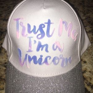 09d443fd414 Justice Accessories - Justice Trust me I m a Unicorn🦄🦄 Hat🎩 NEW