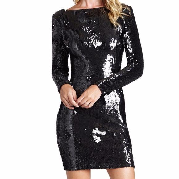 9b7fa8a6 Dress the Population Dresses & Skirts - Dress the Population LOLA Black Sequin  Mini Dress