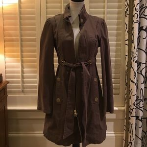 Tulle brown duster coat
